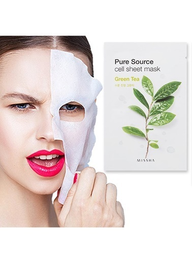 Missha Pure Source Cell Sheet Mask (Green Tea) Renksiz